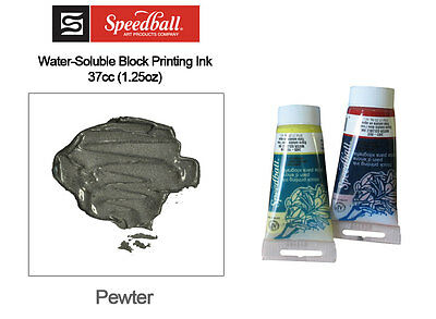Speedball Water Soluble Block Printing Ink Pewter 37cc
