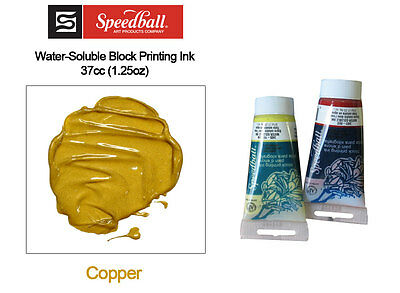 Speedball Water Soluble Block Printing Ink Copper 37cc