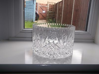 Lovely Vintage Royal Doulton Cut Crystal Ice Bowl