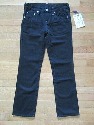 True Religion Boys Straight Single End Black Jeans, Tr936Jn98, Nwt$129, 14