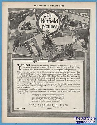 1911 Hart Schaffner & Marx clothes Six Penfield pictures American history ad