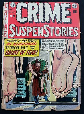 Crime Suspenstories 11 a 1952 seriously distressed 'cent' Golden Age EC Comic
