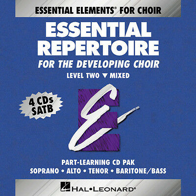 Essential Repertoire Developing Choir Level 2 Mixed Part-Learning 4 CD Set NEW