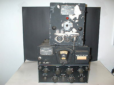 Navy Radio Cct-46077 High Frequency Receiver + Cct-20086 Rectifier Power Supply