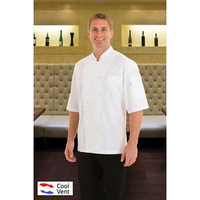 Chef Works Palermo Chef Coat Jacket - White - All Sizes - Cool Vent