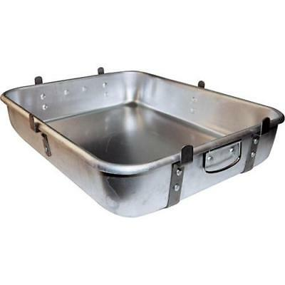 Winco - ALRP-1824L - 18 in x 24 in Aluminum Roasting Pan with Lugs