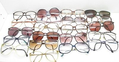 cdcdfbc0d118 SET of 21 VINTAGE WOMENS OVERSIZED EYEGLASSES FRAMES eyewear bulk lot TV6  S97
