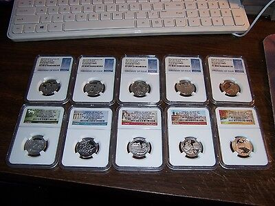 (Lot Of 10)2016 S&2017-S- Ngc Pr 69Uc Silver-Show Special With New Storage Box#1