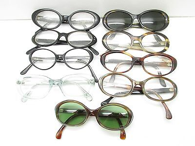 f48a19a7dccc SET of 9 VINTAGE WOMENS OVAL FASHION EYEGLASSES FRAMES eyewear bulk lot TV6  S106