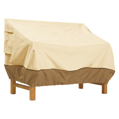 Classic Accessories 72922 Veranda Pebble Patio Loveseat/Bench Cover - Medium