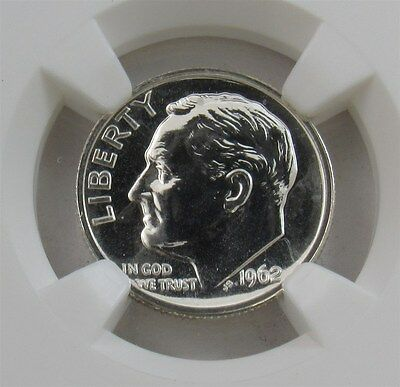 1962 Roosevelt Dime Silver Proof 10C - Certified & Graded NGC PR66 PF