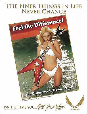 The Dean famous Girl in the Water with select guitar ad 8 x 11 advertisement