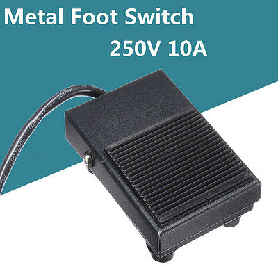 Heavy Duty Metal 250V AC 10A SPDT 1NO 1NC Momentary NON-SLIP Foot Pedal Switch