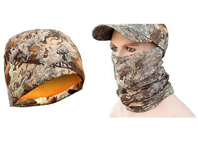 2pc Kings Camo Bundle Reversible Beanie / Head & Neck Hood Gaiter Desert Shadow
