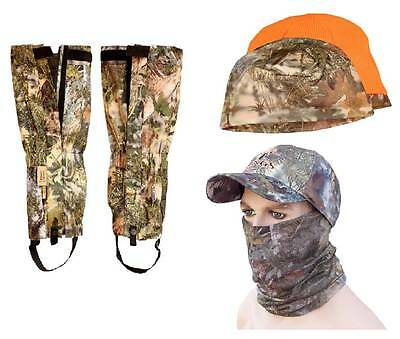 5pc King's Camo Mountain Accessories Bundle Gaiters, Hat, Beanie, Neck Mask Lot