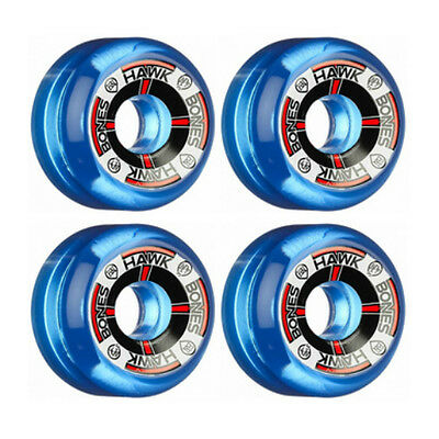 Bones Skateboard Wheels Tony Hawk T-Bone Clear Blue 60mm SPF 84B RRP $79
