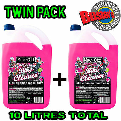 Muc Off Motorcycle Motocross Bike Nano Cleaner 5 Litre Twin Pack 10 Litres Refil