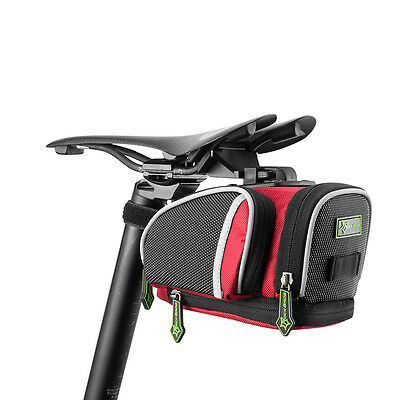 RockBros Road Bike Saddle Bag MTB Seat Post Cycling Bag Fixed Gear Fixie Red