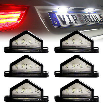 6X Led License Number Plate Light Tail Rear Lamp Car Truck Trailer Lorry 12/24V