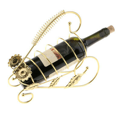 Metal Wire Red Wine Rack Bottle Bracket Holder for Banquet Wedding Party Decor