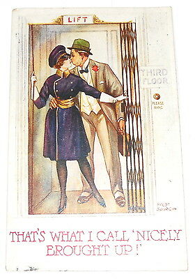 """Postcard - Comic - Fred Spurgin - """"that's What I Call Nicely Brought Up!"""" 1924"""