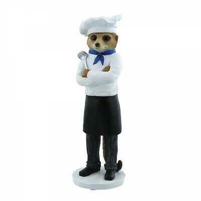 Country Artists Magnificent Meerkat  Marco Chef Figurine Ornament CA04527