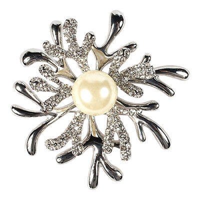 Culpitt Snowflake Diamante Brooch Wedding Christmas Cake Cupcake Decor Bling