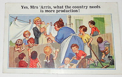 """POSTCARD - COMIC - """"WHAT THE COUNTRY NEEDS IS MORE PRODUCTION!"""" C.1930s"""