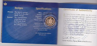 2002 Boxed Proof Gold Half Sovereign With Certificate
