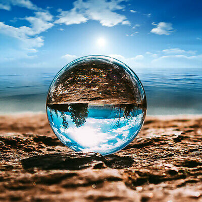 100mm Clear Round K9 Glass Magic Crystal Ball Photography Sphere Home Decor Gift