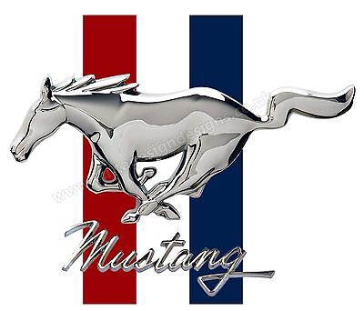 "Ford Mustang Digitally Cut Out Vinyl Sticker. 4"" X 3"" Overall Size."