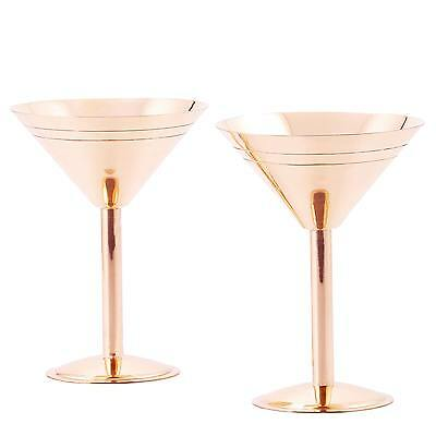 Old Dutch Solid Copper Martini Glasses (Set of 2)