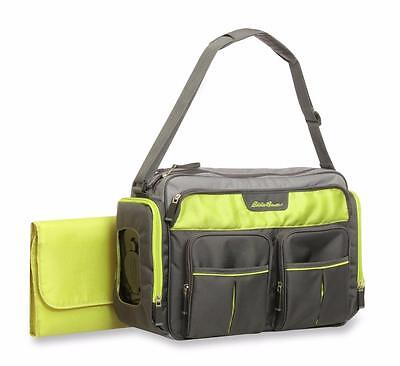 Eddie Bauer Places & Spaces Duffle Diaper Bag, Gray Green, NEW.. FREE SHIP