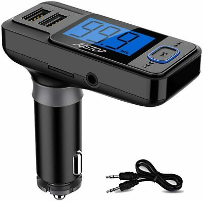 Bluetooth Wireless Handsfree Car Kit FM Music Transmitter With Remote MP3 USB UK
