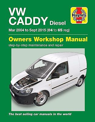Haynes Manual Volkswagen VW Caddy Diesel Mar 2004 to Sept 2015 6390