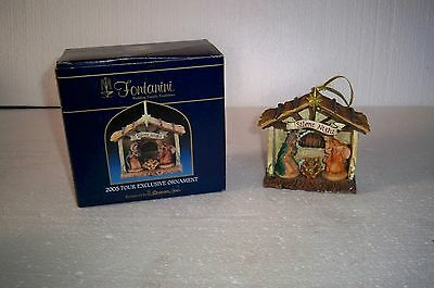 FONTANINI Italy Holy Family Nativity 2005 Exclusive Tour Ornament Roman Inc