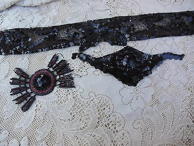 Antique Dress Trim Beaded