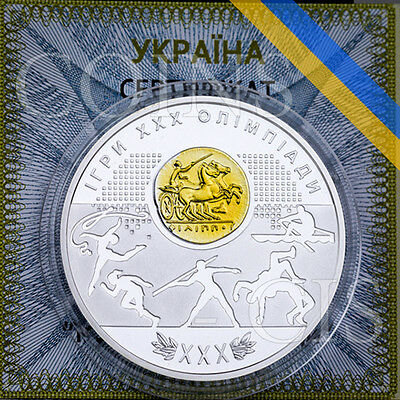 Ukraine 2012 10 UAH Games of the XXX Olympiad London Proof Silver Coin