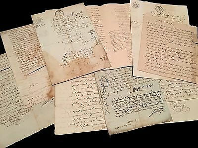 Lot Of Antique Manuscripts