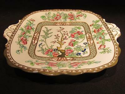 Coalport India Tree Vintage Round-Edged Handled Cake or Dainty Platter 10""