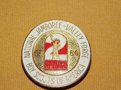 Bsa Boy Scouts Of America Neckerchief Slide 1964 Valley Forge National Jamboree