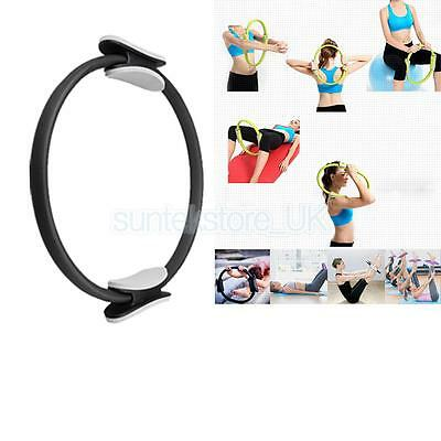 Magic Pilates Yoga Ring Exercise Gym Circles Resistance Fitness Circle Black