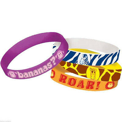 ~ Birthday Party Supplies Favors Silicone 4 SHIMMER AND SHINE RUBBER BRACELETS