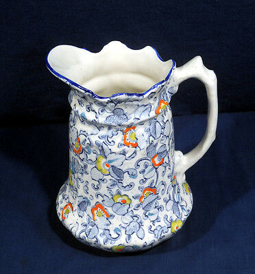 Antique Old Foley James Kent Staffordshire England China Chintz Cathay Pitcher