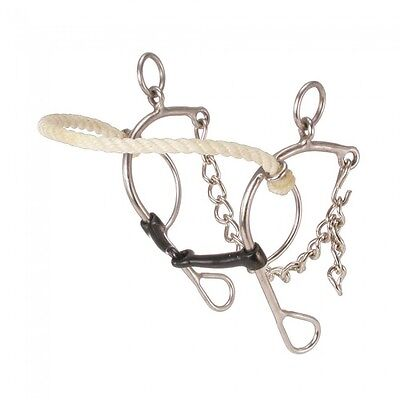 """Kelly Silver Star Rope Nose Combination - Stainless Steel - 5"""" mouth"""