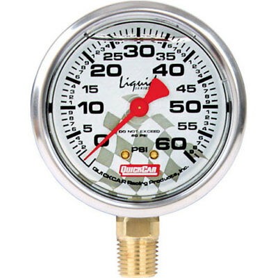 QuickCar Racing 56-0061 Replacement Tire Pressure Gauge Head Liquid Fill 0-60 ps