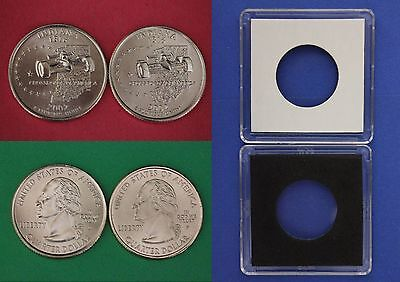 2002 D P Indiana State Quarters With 2x2 Cases From Mint Set Buy 4 Get 1 FREE