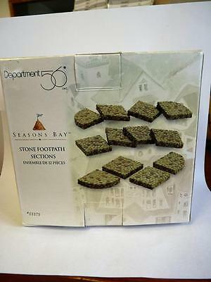 Dept 56 Seasons Bay Stone Footpath Sections Set Of 10 Read Description (a2804)