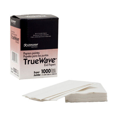 Graham Professional TrueWave Super Jumbo END PAPERS Hair Perm True Wave 1000ct
