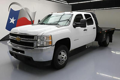 2014 Chevrolet Silverado 3500  2014 CHEVY SILVERADO 3500 CREW 4X4 DUALLY FLAT BED 23K #155788 Texas Direct Auto